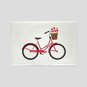 Bicycle Bike Flower Basket Sweet Ride Magnets