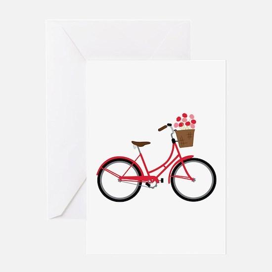 Bicycle Bike Flower Basket Sweet Ride Greeting Car
