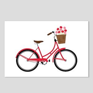 Bicycle Bike Flower Basket Sweet Ride Postcards (P