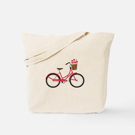 Bicycle Bike Flower Basket Sweet Ride Tote Bag