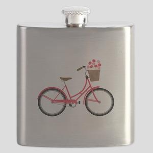 Bicycle Bike Flower Basket Sweet Ride Flask