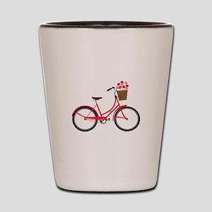 Bicycle Bike Flower Basket Sweet Ride Shot Glass