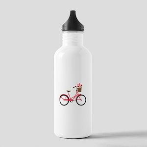 Bicycle Bike Flower Basket Sweet Ride Water Bottle