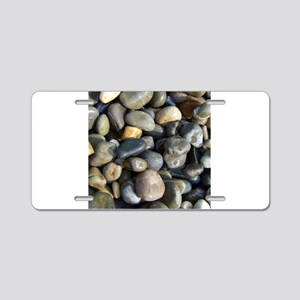 Polished pebbles Aluminum License Plate