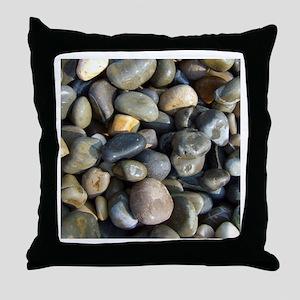 Polished pebbles Throw Pillow