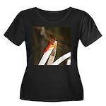 Red Dragonfly Women's Plus Size Scoop Neck Dark T-
