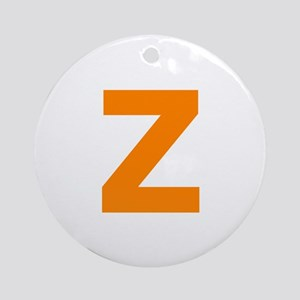 Letter Z Orange Ornament (Round)