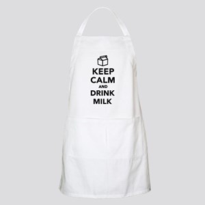 Keep calm and drink Milk Apron