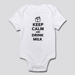 Keep calm and drink Milk Infant Bodysuit