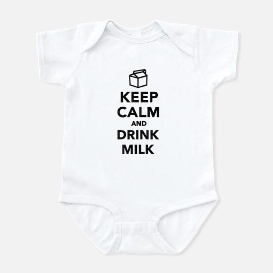 Keep calm and drink Milk Infant Bodysuit