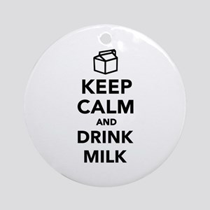 Keep calm and drink Milk Ornament (Round)