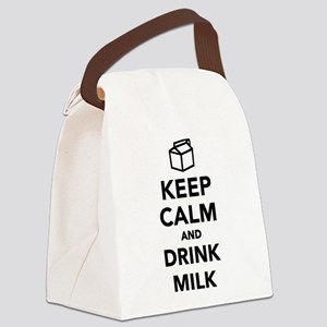 Keep calm and drink Milk Canvas Lunch Bag