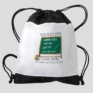 Teacher School Class Personalized Drawstring Bag