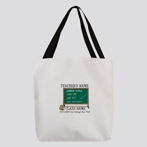 Teacher School Class Personalized Polyester Tote B