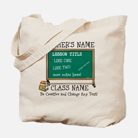 Teacher School Class Personalized Tote Bag