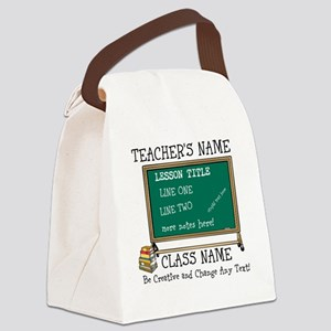 Teacher School Class Personalized Canvas Lunch Bag