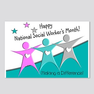 Happy social workers month 2 Postcards (Package of