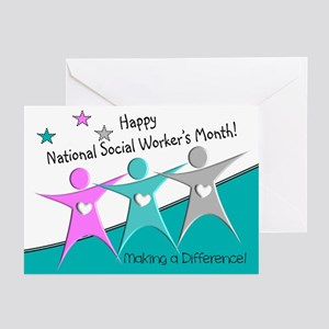 Happy social workers month 2 Greeting Cards
