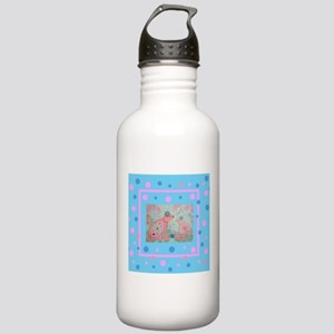 Cute Mother and Baby Birds Sports Water Bottle