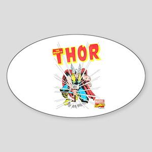 Thor Slam Sticker (Oval)