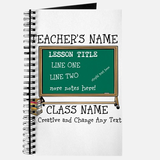 Teacher School Class Personalized Journal