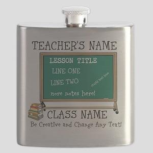 Teacher School Class Personalized Flask