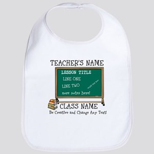 Teacher School Class Personalized Baby Bib