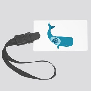 Whale Belly Ship Moby Dick Luggage Tag