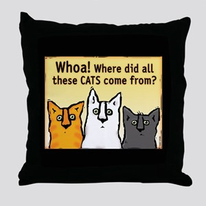 """Whoa!"" Throw Pillow"