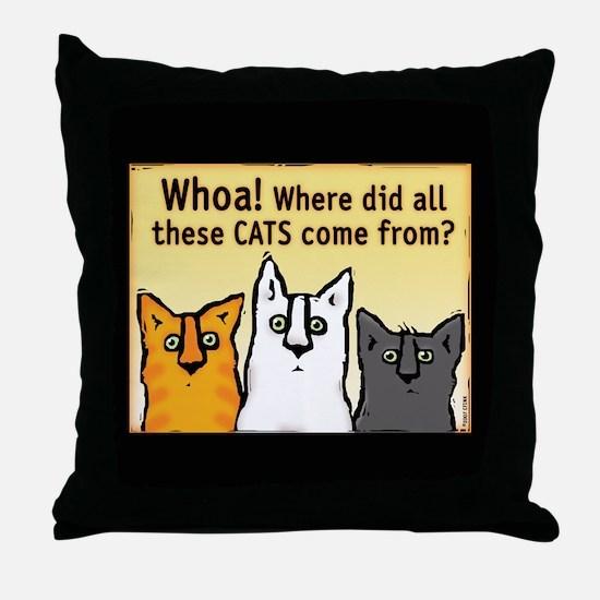 """Whoa!"" Throw Pillow"