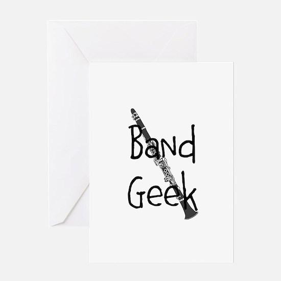 Band Geek Clarinet Greeting Cards