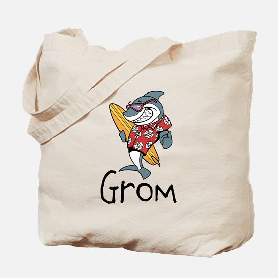 Surfing Shark Grom Tote Bag
