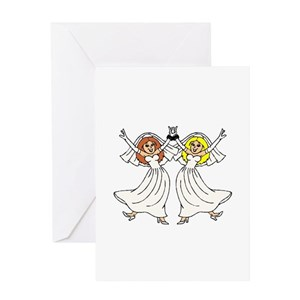 lesbian wedding greeting cards cafepress - Wedding Greeting Cards