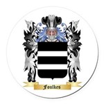 Foulkes Round Car Magnet