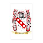 Foulger Sticker (Rectangle 50 pk)