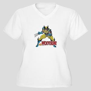 Vintage Wolverine Women's Plus Size V-Neck T-Shirt