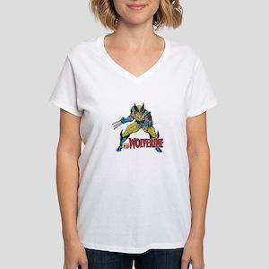 Vintage Wolverine Women's V-Neck T-Shirt