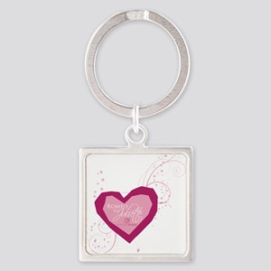 Romeo and Juliet Heart Keychains