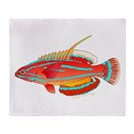 McCoskers flasher wrasse Throw Blanket