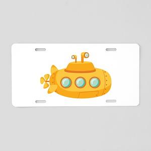Submarine Aluminum License Plate