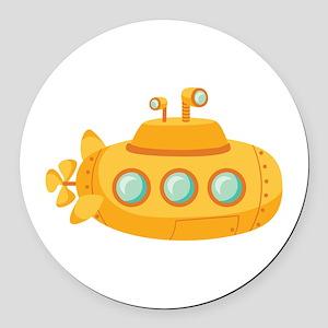 Submarine Round Car Magnet