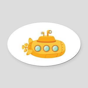 Submarine Oval Car Magnet