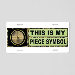 Piece Symbol Bumper Aluminu Aluminum License Plate