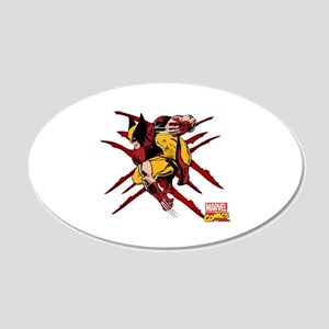 Wolverine Scratches 20x12 Oval Wall Decal