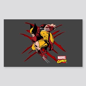 Wolverine Scratches Sticker (Rectangle)