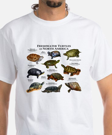 Freshwater Turtle of North America White T-Shirt