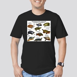 Freshwater Turtle of N Men's Fitted T-Shirt (dark)