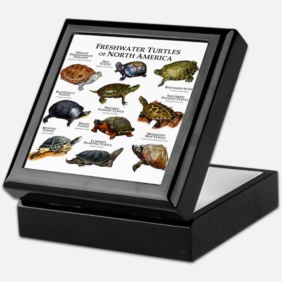Freshwater Turtle of North America Keepsake Box