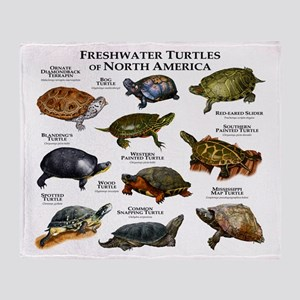 Freshwater Turtle of North America Throw Blanket