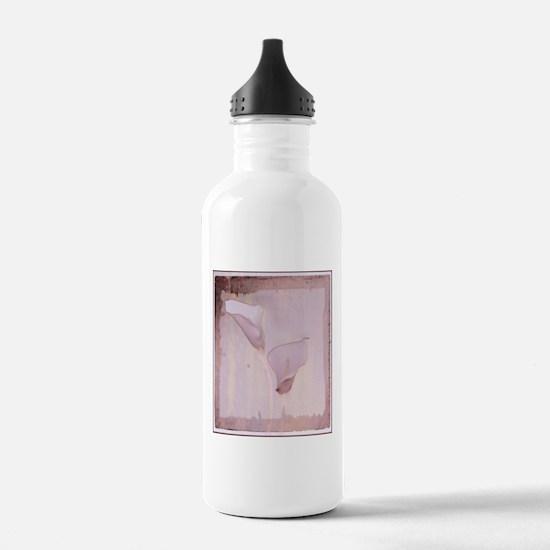 Pink calla lilies Water Bottle